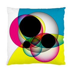 Apollonius Color Multi Circle Polkadot Standard Cushion Case (two Sides)