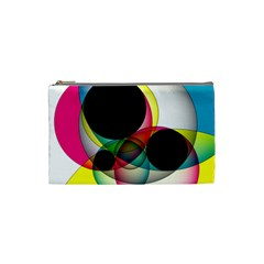 Apollonius Color Multi Circle Polkadot Cosmetic Bag (small)  by Mariart