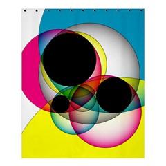 Apollonius Color Multi Circle Polkadot Shower Curtain 60  X 72  (medium)  by Mariart
