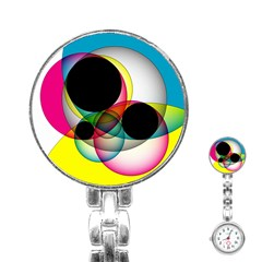 Apollonius Color Multi Circle Polkadot Stainless Steel Nurses Watch by Mariart