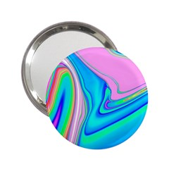 Aurora Color Rainbow Space Blue Sky Purple Yellow Green Pink Red 2 25  Handbag Mirrors by Mariart