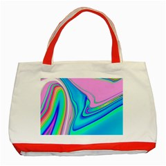 Aurora Color Rainbow Space Blue Sky Purple Yellow Green Pink Red Classic Tote Bag (red) by Mariart