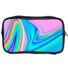 Aurora Color Rainbow Space Blue Sky Purple Yellow Green Pink Red Toiletries Bags 2 Side by Mariart