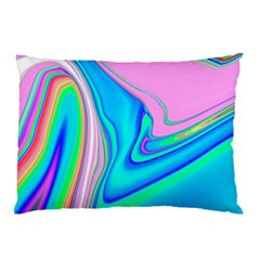 Aurora Color Rainbow Space Blue Sky Purple Yellow Green Pink Red Pillow Case (two Sides) by Mariart