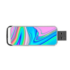 Aurora Color Rainbow Space Blue Sky Purple Yellow Green Pink Red Portable Usb Flash (one Side) by Mariart