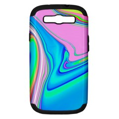 Aurora Color Rainbow Space Blue Sky Purple Yellow Green Pink Red Samsung Galaxy S Iii Hardshell Case (pc+silicone) by Mariart
