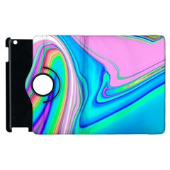 Aurora Color Rainbow Space Blue Sky Purple Yellow Green Pink Red Apple Ipad 3/4 Flip 360 Case by Mariart