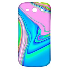 Aurora Color Rainbow Space Blue Sky Purple Yellow Green Pink Red Samsung Galaxy S3 S Iii Classic Hardshell Back Case by Mariart