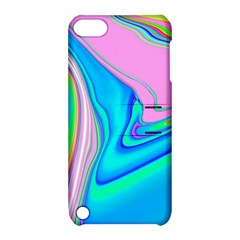Aurora Color Rainbow Space Blue Sky Purple Yellow Green Pink Red Apple Ipod Touch 5 Hardshell Case With Stand by Mariart