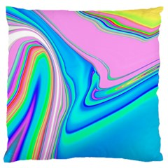 Aurora Color Rainbow Space Blue Sky Purple Yellow Green Pink Red Large Flano Cushion Case (one Side) by Mariart