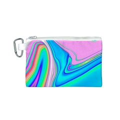 Aurora Color Rainbow Space Blue Sky Purple Yellow Green Pink Red Canvas Cosmetic Bag (s) by Mariart