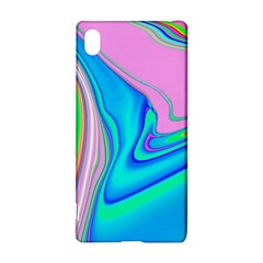 Aurora Color Rainbow Space Blue Sky Purple Yellow Green Pink Red Sony Xperia Z3+ by Mariart