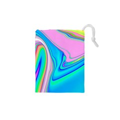 Aurora Color Rainbow Space Blue Sky Purple Yellow Green Pink Red Drawstring Pouches (xs)  by Mariart