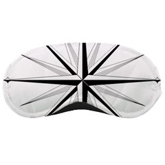 Compase Star Rose Black White Sleeping Masks by Mariart