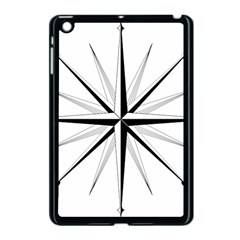 Compase Star Rose Black White Apple Ipad Mini Case (black) by Mariart