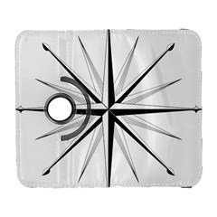 Compase Star Rose Black White Galaxy S3 (flip/folio) by Mariart