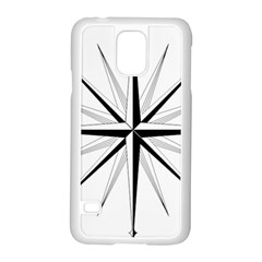 Compase Star Rose Black White Samsung Galaxy S5 Case (white) by Mariart