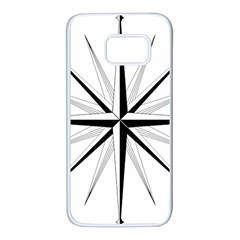 Compase Star Rose Black White Samsung Galaxy S7 White Seamless Case