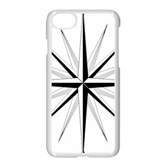 Compase Star Rose Black White Apple Iphone 7 Seamless Case (white) by Mariart