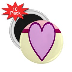 Cute Gender Gendercute Flags Love Heart Line Valentine 2 25  Magnets (10 Pack)  by Mariart