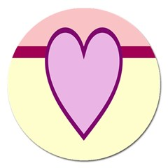 Cute Gender Gendercute Flags Love Heart Line Valentine Magnet 5  (round) by Mariart