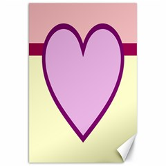 Cute Gender Gendercute Flags Love Heart Line Valentine Canvas 20  X 30   by Mariart