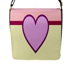 Cute Gender Gendercute Flags Love Heart Line Valentine Flap Messenger Bag (l)  by Mariart