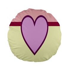 Cute Gender Gendercute Flags Love Heart Line Valentine Standard 15  Premium Flano Round Cushions by Mariart