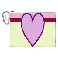 Cute Gender Gendercute Flags Love Heart Line Valentine Canvas Cosmetic Bag (xxl) by Mariart