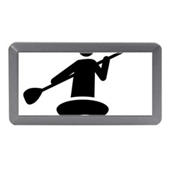 Cropped Kayak Graphic Race Paddle Black Water Sea Wave Beach Memory Card Reader (mini) by Mariart