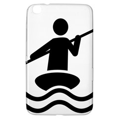 Cropped Kayak Graphic Race Paddle Black Water Sea Wave Beach Samsung Galaxy Tab 3 (8 ) T3100 Hardshell Case  by Mariart