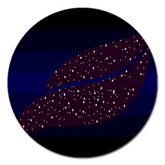 Contigender Flags Star Polka Space Blue Sky Black Brown Magnet 5  (round) by Mariart