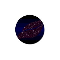 Contigender Flags Star Polka Space Blue Sky Black Brown Golf Ball Marker by Mariart