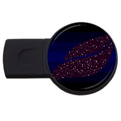 Contigender Flags Star Polka Space Blue Sky Black Brown Usb Flash Drive Round (4 Gb) by Mariart