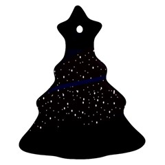 Contigender Flags Star Polka Space Blue Sky Black Brown Christmas Tree Ornament (two Sides) by Mariart