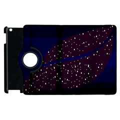 Contigender Flags Star Polka Space Blue Sky Black Brown Apple Ipad 2 Flip 360 Case by Mariart