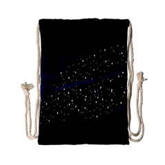 Contigender Flags Star Polka Space Blue Sky Black Brown Drawstring Bag (small) by Mariart