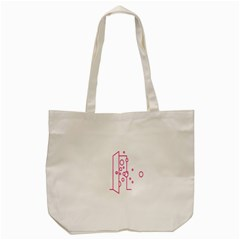 Deep Clean Bubbel Door Pink Polka Circle Tote Bag (cream) by Mariart