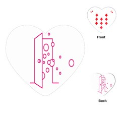 Deep Clean Bubbel Door Pink Polka Circle Playing Cards (heart)  by Mariart
