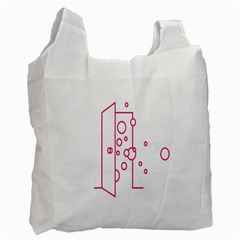Deep Clean Bubbel Door Pink Polka Circle Recycle Bag (two Side)  by Mariart