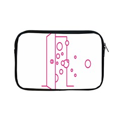 Deep Clean Bubbel Door Pink Polka Circle Apple Ipad Mini Zipper Cases by Mariart