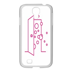 Deep Clean Bubbel Door Pink Polka Circle Samsung Galaxy S4 I9500/ I9505 Case (white) by Mariart
