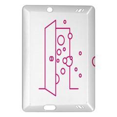 Deep Clean Bubbel Door Pink Polka Circle Amazon Kindle Fire Hd (2013) Hardshell Case by Mariart