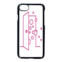 Deep Clean Bubbel Door Pink Polka Circle Apple Iphone 7 Seamless Case (black) by Mariart