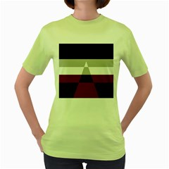 Dissexual Flag Women s Green T Shirt