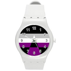 Dissexual Flag Round Plastic Sport Watch (m) by Mariart