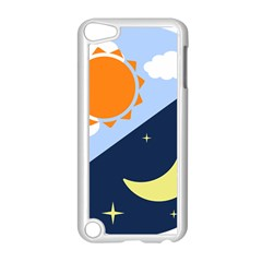 Day Night Moon Stars Cloud Stars Apple Ipod Touch 5 Case (white) by Mariart