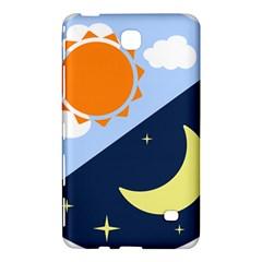 Day Night Moon Stars Cloud Stars Samsung Galaxy Tab 4 (8 ) Hardshell Case  by Mariart