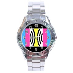 Echogender Flags Dahsfiq Echo Gender Stainless Steel Analogue Watch by Mariart