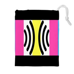 Echogender Flags Dahsfiq Echo Gender Drawstring Pouches (extra Large) by Mariart